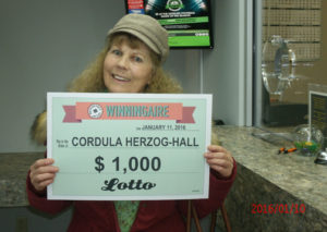 Cordula Herzog-Hall Lotto Win